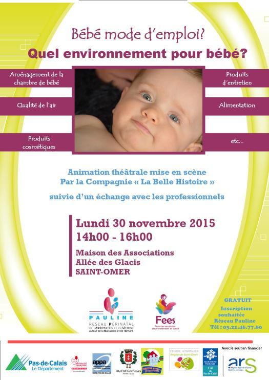 Affiche Bébé mode d'emploi St-Omer 2015 V4