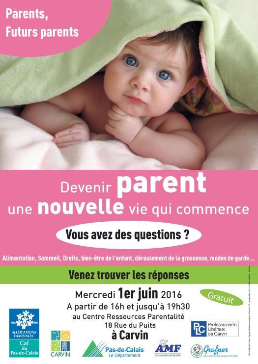 Affiche ForumPrimoParentCarvinJUIN2016